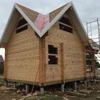 Фундамент на забивных ж/б сваях для бани из бруса в деревне Нова Череповецкого района от компании Стройматик
