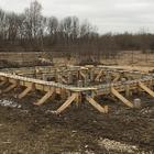 Фундамент для дома на забивных ж/б сваях с высоким ростверком в Кинешме от компании Стройматик