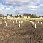 Фундамент на забивных ж/б сваях для дома из бруса в поселке Горный Щит, Екатеринбург от компании Стройматик