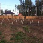 Фундамент на забивных ж/б сваях для каркасного дома в поселке Верхнее Дуброво, Екатеринбург от компании Стройматик