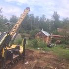 Фундамент на забивных ж/б сваях с обвязкой брусом для каркасного садового дома в СНТ Заря, Ижевск от компании Стройматик