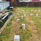 Фундамент на забивных ж/б сваях для кирпичного дома в поселке Красный Яр, Новосибирск от компании Стройматик