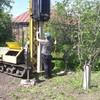 Фундамент на забивных ж/б сваях для дома из бруса в селье Щучье Воронежской области от компании Стройматик