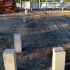 Фундамент на забивных ж/б сваях с бетонным ростверком для ангара на территории города Новосибирск, поселок Двуречье от компании Стройматик