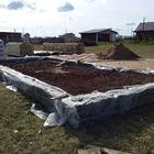 Фундамент на забивных ж/б сваях с бетонным ростверком для дома из газоблока в деревне Лудорвай, Удмуртия от компании Стройматик