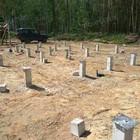Фундамент на забивных ж/б сваях для дома из бруса в пгт Дубровка Ленинградской области от компании Стройматик