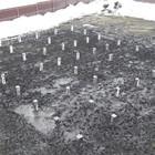 Фундамент на забивных ж/б сваях с обвязкой брусом для каркасного дома в селе Кондрашкино Воронежской области от компании Стройматик