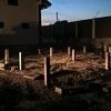 Фундамент на забивных ж/б сваях для бани из оцилиндрованного бревна в поселке  Песчаное Озеро Челябинской области от компании Стройматик